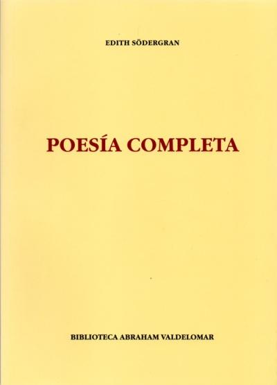 Portada de Poesía completa de Edith Södergran