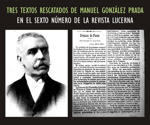 Tres textos rescatados de Manuel Gonzalez Prada en Lucerna No. 6