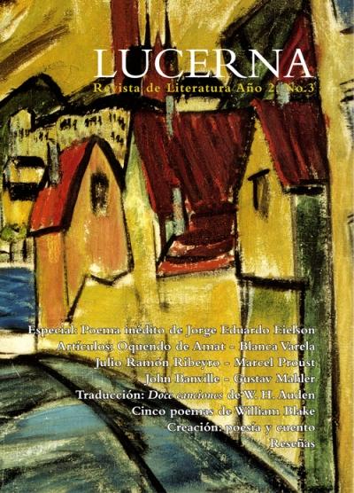 Portada del tercer número de la revista Lucerna