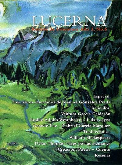 Portada revista Lucerna No. 6