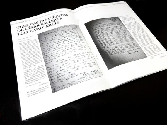 Tres cartas ineditas de César Vallejo en Lucerna No. 2