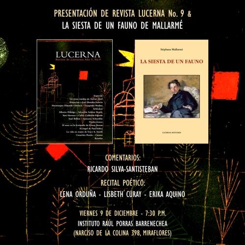Presentación de la revista Lucerna No. 9 & Recital poético